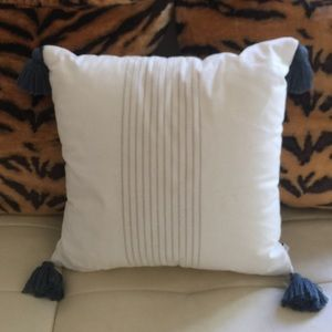 "(1) 18"" x 18"" Accent pillow with tassels"